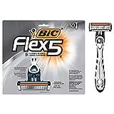 BIC Flex 5 Men's 5-Blade Disposable Razor, 10 Count