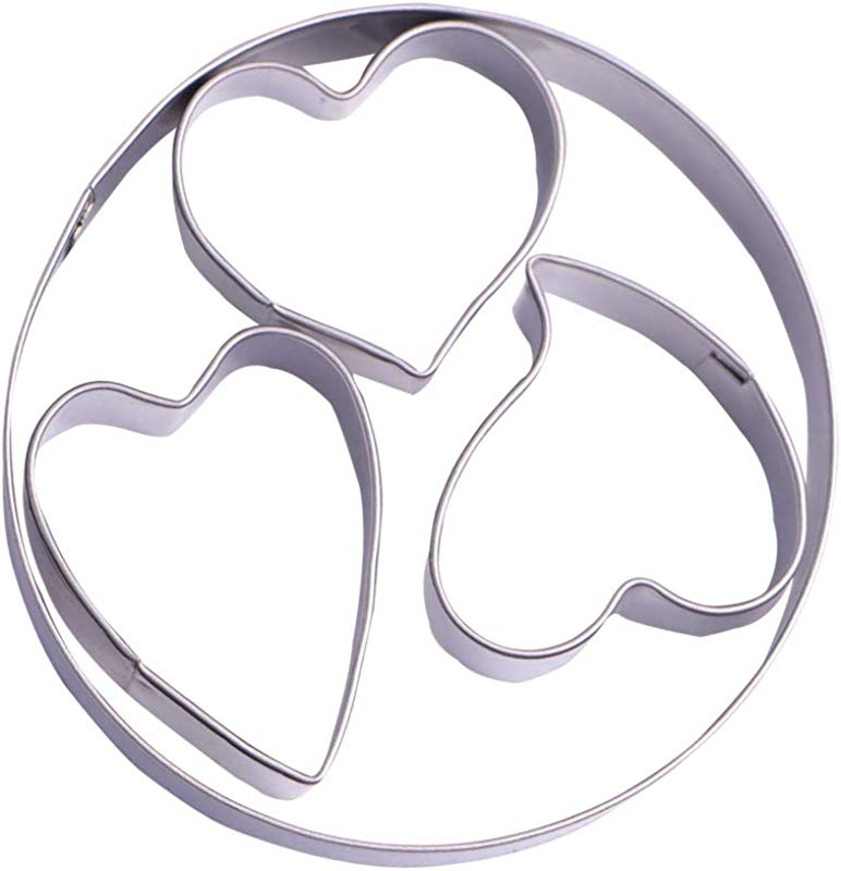Mini Heart Cookie Cutter Set 4 Piece Stainless Steel