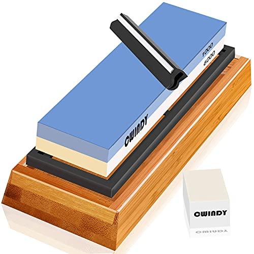 Whetstone Sharpening Stone Kit Dual Sided 1000/6000...