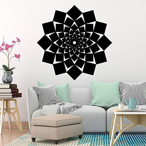 Hermosas flores abstractas decoración del hogar pegatinas de pared pegatinas de habitación de los niños pegatinas de pared impermeables decorativas A1 42x42cm