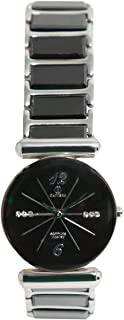 Casual Watch for Women by Olivera, Round, OLC622 - Black and silver