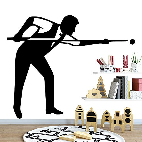 Billardtisch Wohnkultur Vinyl Wandaufkleber Kühlschrank Wohnzimmer Schlafzimmer Aufkleber Dekoration Zubehör 58x66cm Schwarzy815