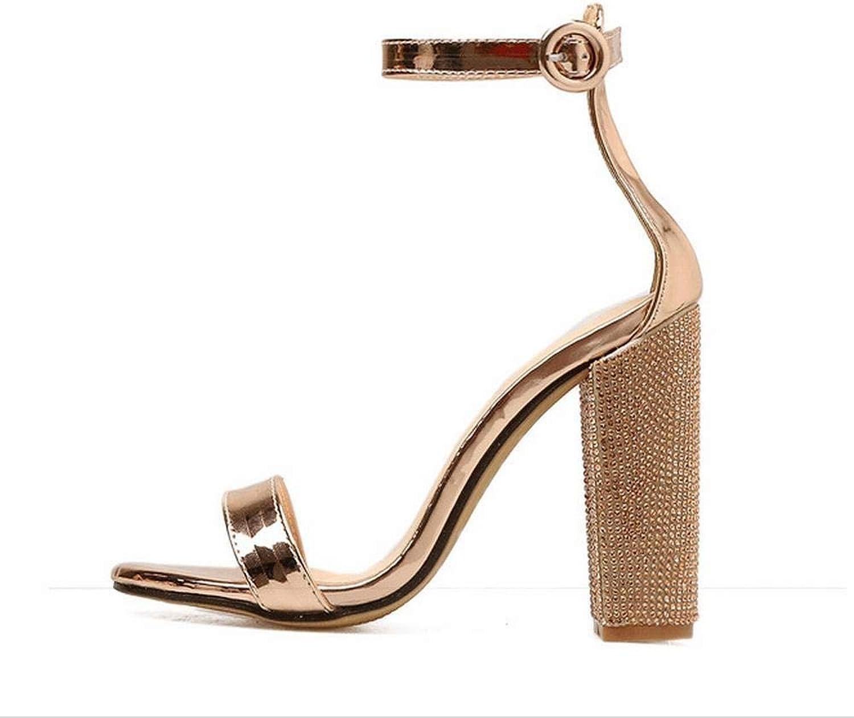 Sugoishop Women's High Heel Sandals Sexy Fish Mouth Rhinestones with High Heels