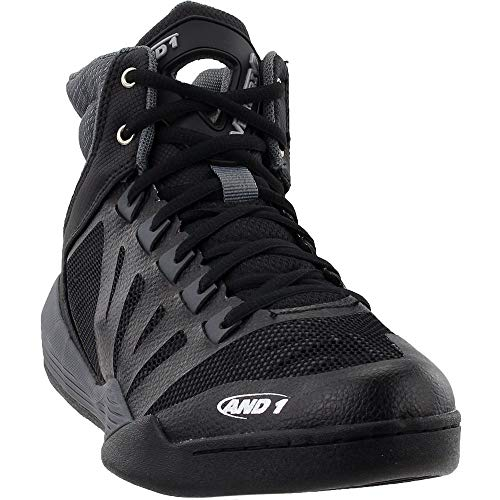 AND1 Mens Overdrive Basketball Casual Shoes, Black, 7.5