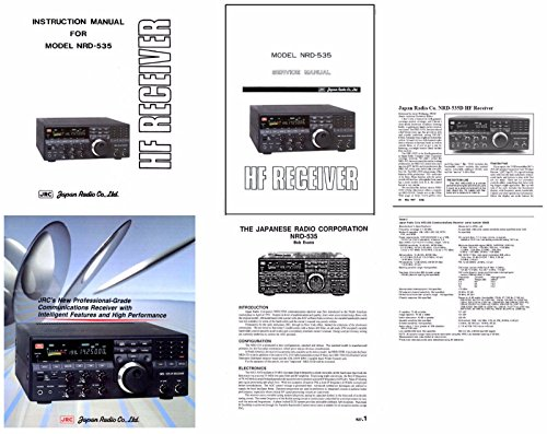JRC NRD-535 Communications Receiver 211 Page Printed documentation Package