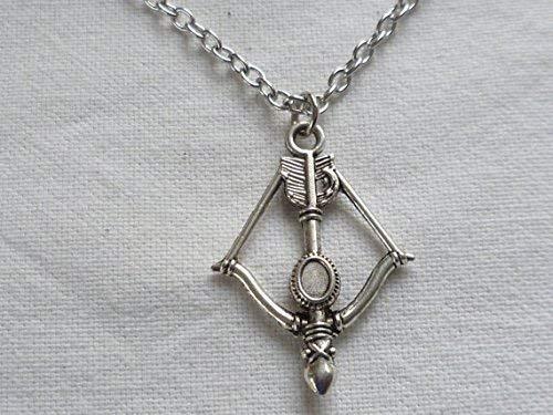 Armbrust Halskette, Silber Armbrust Anhänger, Fandom Schmuck, Daryl, Dead, Waffe Halskette, Pfeil und Bogen