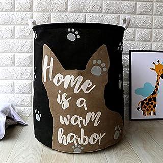 TIANLING Boîte de Rangement Cartoon Waterproof Blanchisserie Hauteur Panneau de Rangement Dog Storage Home Décoration Stor...