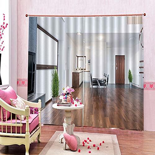 Minyose Tende per La Casa Moden Tende per Finestra 3D Oscuranti di Lusso per Soggiorno Tende di...