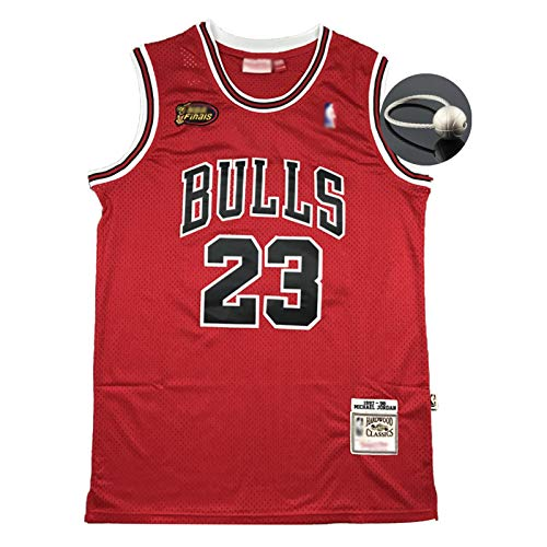 Michael Jordan 98 Finale Logo Basketball Trikot, 23 Chicago Bulls Klassische Basketballuniform, Unisex Retro Stickerei Bequemes Sweatshirt (S-2XL)-L