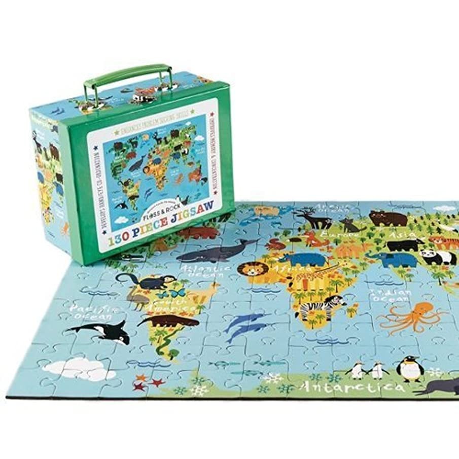 Floss & Rock World 130Pcs Jigsaw Puzzle In Case Educational