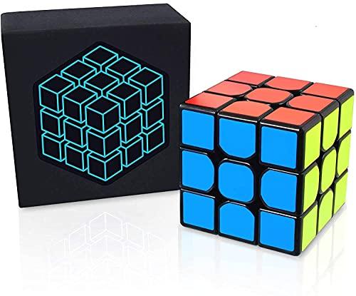 Cubo Cube Zauberwürfel 3x3 - inkl. Gratis Videokurs für Anfänger - Speed cube mit attraktiven Farben und bombenfesten Aufklebern - Speedcube in Meisterschaftsgröße und ohne Quietschen