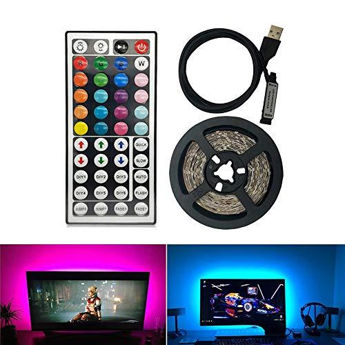Lámpara LED RGB/blanco/blanco cálido 5V USB Power Plack 2835 SMD HDTV TV Desktop Computer Screen Light Lámpara de polarización 1M 2M ERCZYO (Emitting Color : RGB)