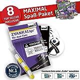 Alles für Aue-Fans by Ligakakao.de AUE Handtuch ist jetzt das MAXIMAL SPAß Paket duschtuch Emblem Logo Soft one Size Baumwolle weich saugstark lila-weiß