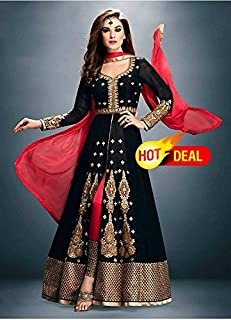 georgette semi stitched salwar with dupatta