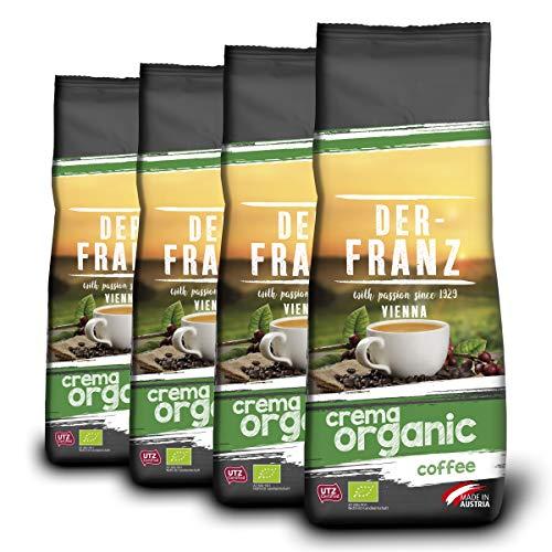 Der-Franz Crema-Bio-Kaffee UTZ, gemahlen, 4x500g