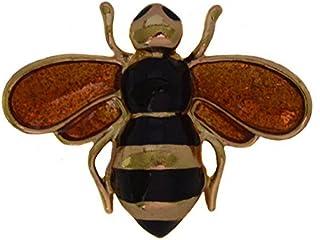 Brooches Store Spilla piccola con smalto nero & oro, insetto ape, spilla in confezione regalo