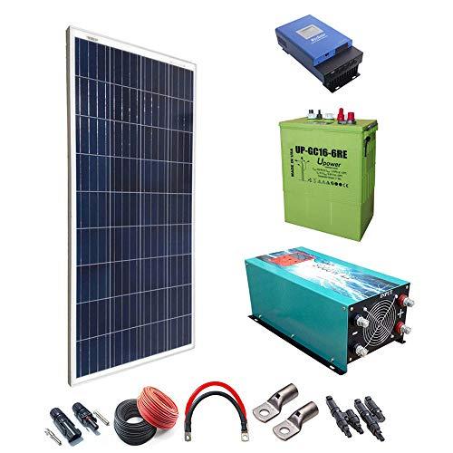 Kit Solar 1500w Hora Regulador de carga MPPT 60A Inversor 5000w onda pura con cargador...