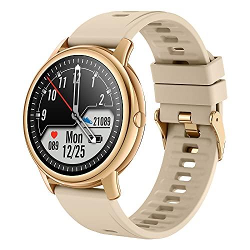 Smartwatch Hombre Mujer,IDEALROYAL Reloj Inteligente con Monitor de frecuencia cardíaca Monitor de sueño,Pulsera Actividad Impermeable IP68 para Android iOS