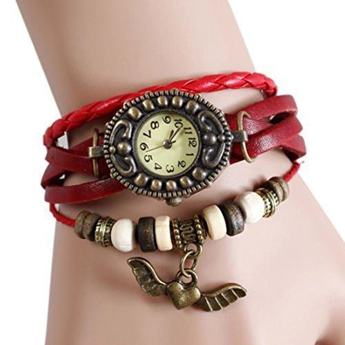 buytra Buytra Damen Armbanduhr, mit Flügelanhänger