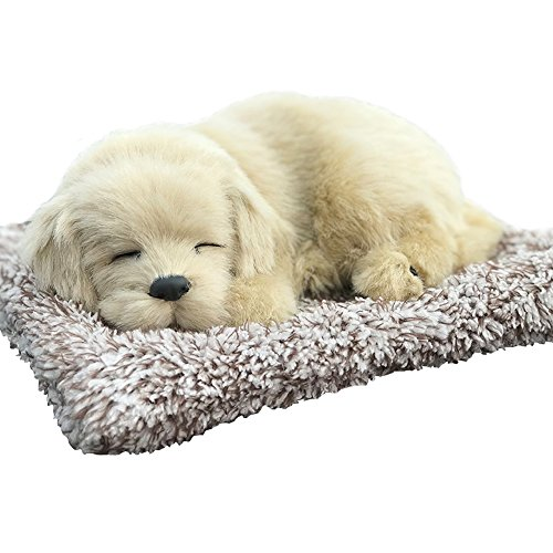 Vsing Realistic Dog Toy- Adorable Sleeping Puppy with 100% Handcrafted Artificial Fur for Decoration and Gift (Labrador)