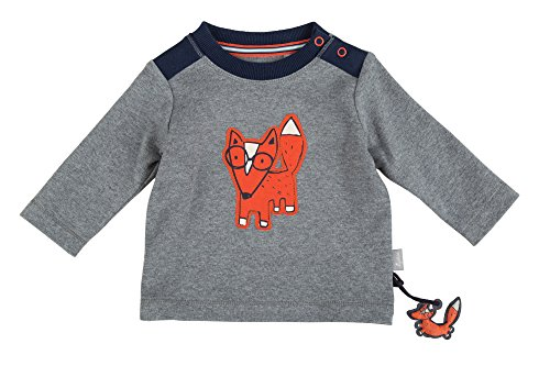 Sigikid Baby-Jungen Langarmshirt, Grau (Grey Melange Abk 83 85), 86