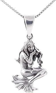 Collar Delicado de Plata Maciza 925 con Colgante de símbolo del horóscopo - Incluye una Cadena Box Chain en 45cm de Plata - Distintos horóscopos