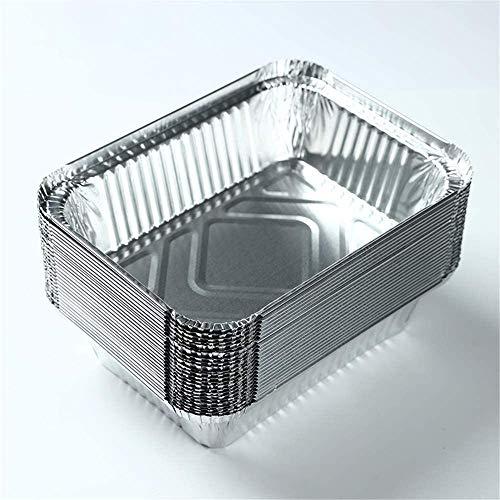 CHANG 10 Extra Grande Teglie Alluminio USA e Getta, Vaschette Monouso, Contenitori Alluminio 26 x 19 cm - Perfette per Cottura al Forno, Arrostire e Cucinare - Robusto e Impermeabile.