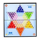 Homyl Portable Magnetic Folding Chessboard Chinese checkers Jumping Chess Set Board Game Toy