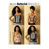 Butterick Patterns B6151 Misses' Corsets, Vest and Belt Sewing Template, Size E5 (14-16-18-20-22)