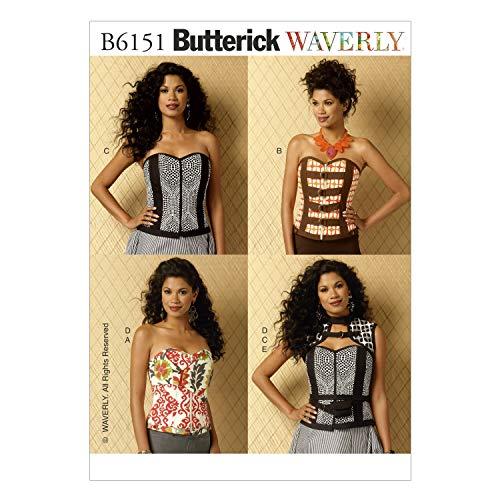 Butterick Patterns 6151 A5-6 tamaños 8-10 12 - - Patrones de Costura para 14 corsés Chaleco para cinturón y Soporte