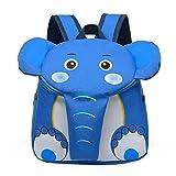 Topdo - 1 mochila al aire libre, diseño de elefante, diseño de elefante, portátil, para la escuela, al aire libre, Oxford, pícnic, para guardería, preescolar, niñas, niños