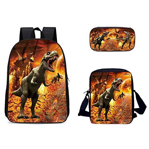 YUNSW 3D Löwentiger Schultasche Set Rucksack, wasserdichte Schultasche Für Mädchen Und Jungen, Geeignet Für Den Schulgebrauch, Einfacher Und Kreativer Schulrucksack, Mit Bleistifttasche