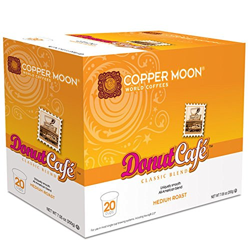 Copper Moon Coffee Single Serve Pods for Keurig 2.0 K Cup Brewers, Donut Café Blend, 20Count
