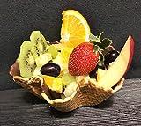 Vegano Tazón de Helado | Cáscara de Gofres | 40xØ120mm | 24 pieza | Copa de oblea crujiente - tazón - para helados, ensalada de frutas o postre y bocadillo - Postre