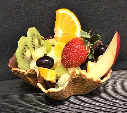 Vegane Eisschale Waffelschale Dessert | 40xØ120mm | 24 Stück | Eiswaffel Becher - Knusprige Schale für Eis - Obst - Salat - Mülheimer Manufaktur Eiswaffeln