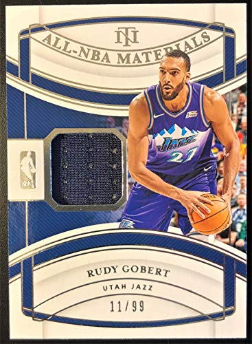 2019 Panini National Treasures RUDY GOBERT All-NBA Jersey Basketball Card - Game Worn Jersey Patch Serial# 11/99 (Only 99 Exist) - Utah Jazz