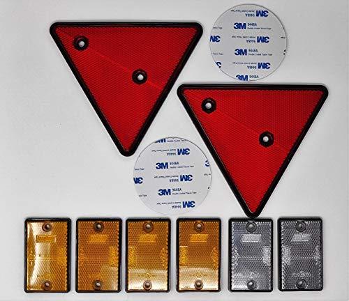 BITS4REASONS Maypole - Kit de Reflector de Seguridad para Caja de Remolque de...