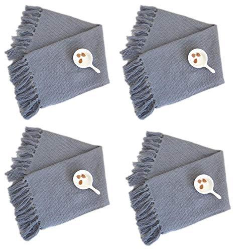 4 Kamer kussen tafelkleed handdoeken op het linnen doek katoen theedoeken theedoek zakdoek demontage,grijs