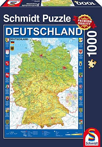 Schmidt Spiele Puzzle 58287 Deutschlandkarte, 1.000 Teile Puzzle