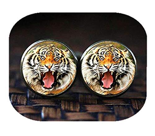 Tiger Boutons de manchette, boutons de manchette, anniversaire, Bobcat, boutons de manchettes Tigre Boutons de manchette, cadeau unique pour homme