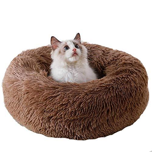 Cama nido para mascotas, gatos y perros, material de felpa redondo, práctico para invierno, apto para mascotas pequeñas y medianas (color: 70 x 70 cm, tamaño: 70 x 70 cm)