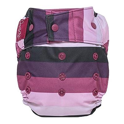 GroVia Reusable Hybrid Baby Cloth Diaper Snap Shell (Sugar Rush)