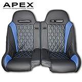 Polaris RZR Suspension Seats ((Apex) Front/Rear Bench Seat, Blue)