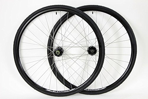 700c Aluminum Alloy Road Wheels for Disc Brakes with Single Speed Spacer Kit with Tires and Tubes