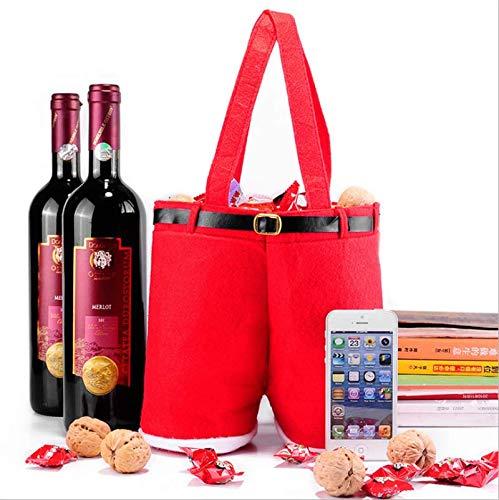 2Navidad Vino Bolsa botella de vino para botella de vino (boda bolso de mano Navidad Chucherías funda Biberón