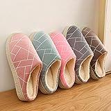 B/H Andar por casa,Zapatillas de algodón Antideslizantes de Suela Gruesa, Calzado de Abrigo Interior-Random_40-41,Pantuflas Cómodas