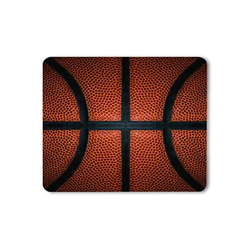 Moslion Basketball Mouse Pad Game Leather Texture Spot Sport Red Black Gaming Mouse Mat Non-Slip Rubber Base Thick Mousepad for Laptop Computer PC 9.5x7.9 Inch