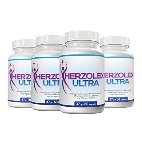 Herzolex Ultra - Diätpille für effektiven Gewichtsverlust   Jetzt das 4-Flaschen-Paket mit Rabatt kaufen (4 Flaschen)