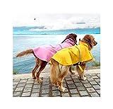 Ampliación de la Chaqueta de Perro para la Capa de Lluvia del Perro de Perrito de Ocio Perro del Impermeable a Prueba de Agua Grande, Azul, XXL