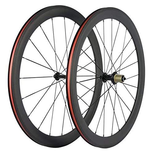 Ruedas De Bicicleta De Carretera 50 Mm Clincher 23 Mm Llanta Ruedas De Bicicleta De Carbono 100% 700C Juego De Ruedas